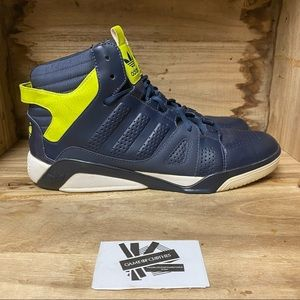 Adidas high top black yellow comfort sneaker shoes